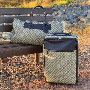 Authentic Gucci 4 Wheel Suitcase